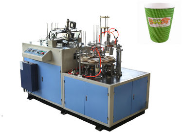 चीन Hollow / Corrugated Double Wall Paper Cup Sleeve Forming Machine 24 Hours Stable Running वितरक